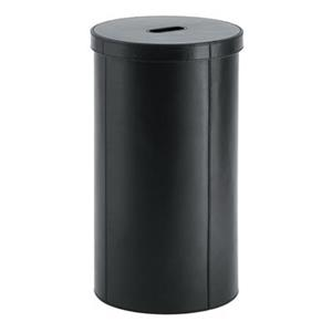 WS Bath Collections Complements Black Laundry Basket
