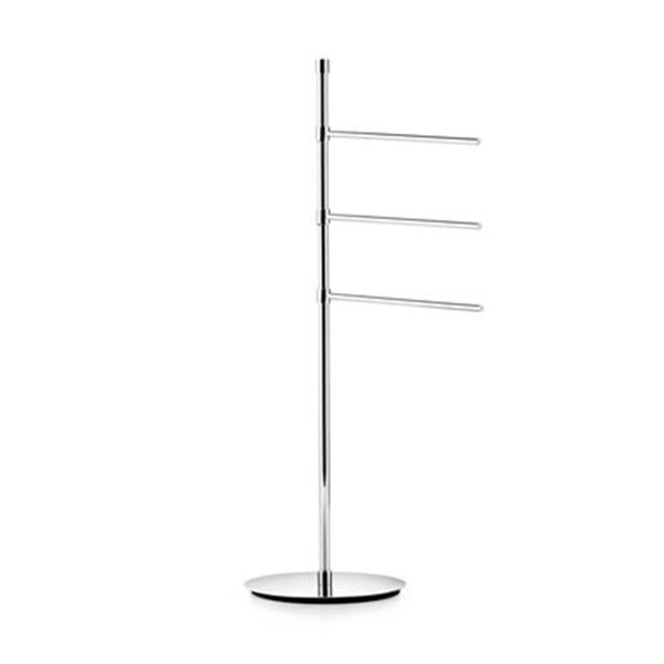 WS Bath Collections Ranpin Chrome Free-Standing Stand Towel Bar