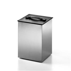 WS Bath Collections Secioni Complements 12.20-in x 8.90-in Stainless Steel Waste Basket