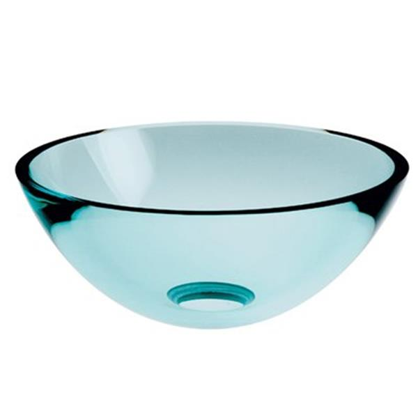 WS Bath Collections Linea 11.80-in x 11.80-in Frosted Glass Round Vessel Sink