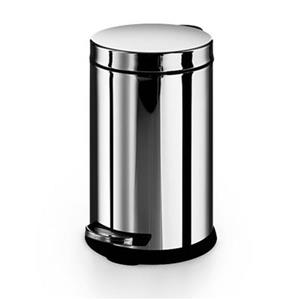 WS Bath Collections Otel 12-in x 8.90-in x 8.90  Stainless Steel Garbage Trash Can