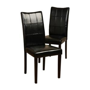 Warehouse of Tiffany Eveleen 38.1-in x 17.7-in Black Dining Chair (Set of 4)