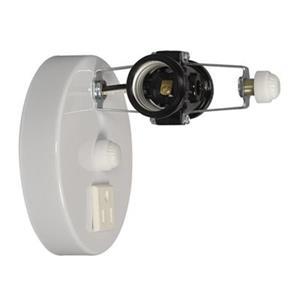 Galaxy White 2-Light Bathroom Light Holder