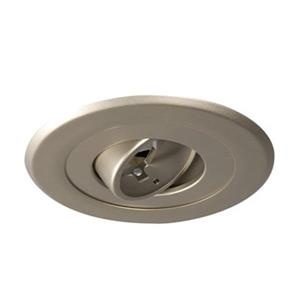 Galaxy Lighting Pewter 5-in Line Voltage Gimbal Ring Recessed Lighting Trim