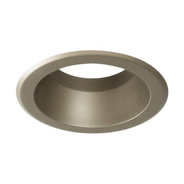 Galaxy Pewter 5-in Line Voltage Reflector Recessed Lighting Trim
