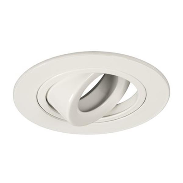 Galaxy White 4-in Low/Line Voltage Gimbal Ring Recessed Lighting Trim