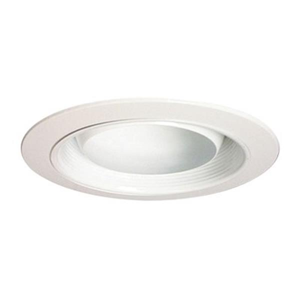 Galaxy White 6-in Recess Eyeball Recessed Lighting Trim