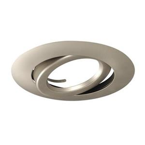 Galaxy Lighting Silver 6-in Line Voltage Gimbal Ring Recessed Lighting Trim