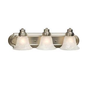 Galaxy Belfast Brushed Nickel 3-Light Bathroom Vanity Light