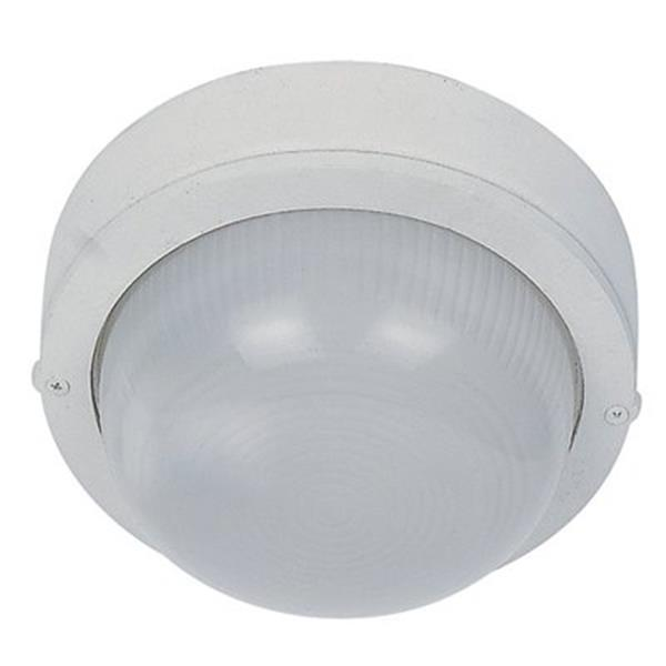 Amlite Lighting White Flush Outdoor Close To Ceiling Light