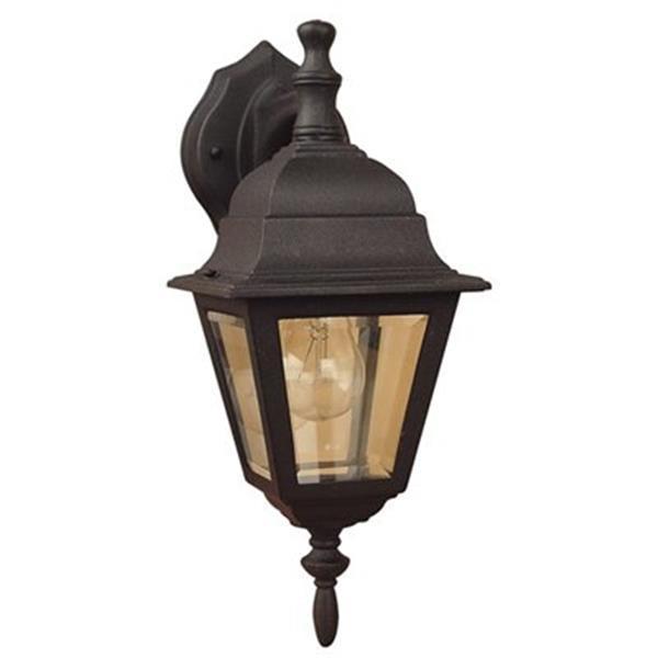 Amlite Lighting 15-in Black Outdoor Wall Lantern