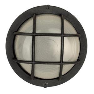 Amlite Lighting 4.25-in Black with Frosted GlassOutdoor Fixture