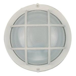Amlite Lighting 4.25-in Matte White Outdoor Fixture