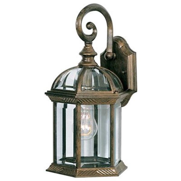 Amlite Lighting 15.5-in Antique Copper Outdoor Wall Lantern