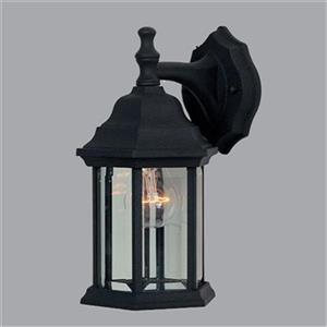 Amlite Lighting 12-in Black Outdoor Wall Lantern
