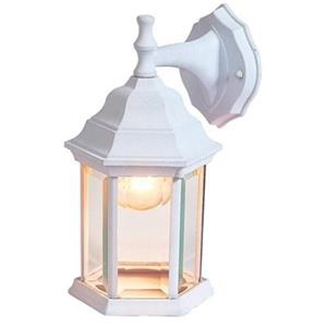 Amlite Lighting 12-in Matte White Outdoor Wall Lantern