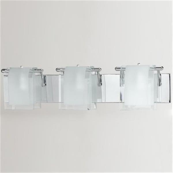 Amlite Lighting Broadway Chrome 3-Light Bathroom Vanity Light