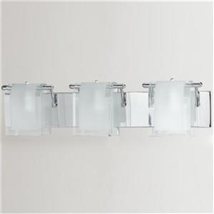 Amlite Lighting Broadway Chrome 3-Light Bathroom Vanity Light