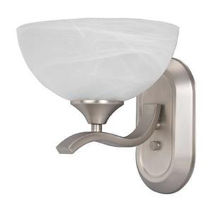 Amlite Lighting Contempra Satin Nickel 1-Light Wall Bathroom Vanity Light