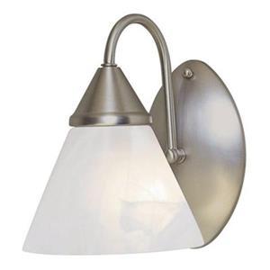 Amlite Lighting Satin Nickel 1-Light Wall Sconce