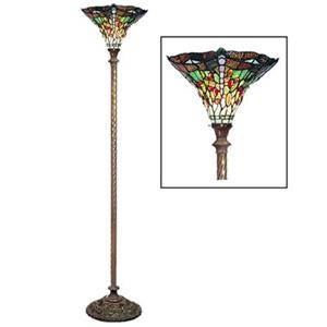 Warehouse of Tiffany Dragonfly Torchiere Floor Lamp