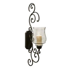IMAX Worldwide Angelina Grand Scrollwork Candle Holder