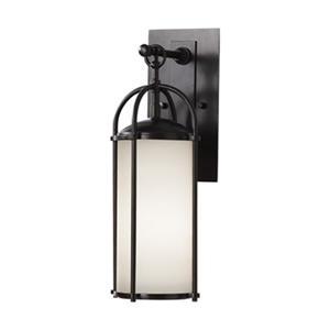 Feiss Dakota 17-in Expresso1-Light Wall Lantern.
