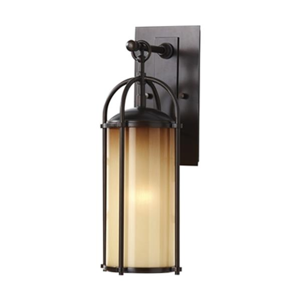 Feiss Dakota 17-in Heritage Bronze 1-Light Wall Lantern