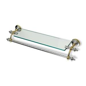 Nameeks Giunone 28-in Copper Classic Clear Glass Shelf Towel Bar