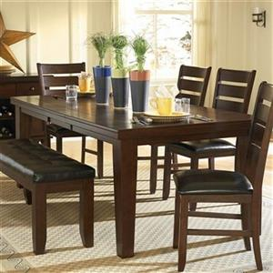 Homelegance Ameillia 64-in x 42-in x 30-in Dark Oak Dining Table with 18-in Leaf