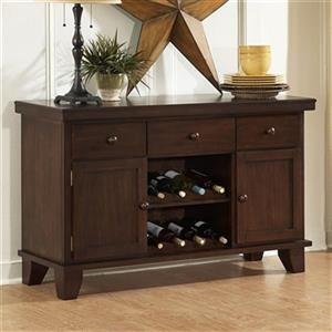 Homelegance Ameillia 33-in x 52-in Brown Servee With 2 Wine Racks