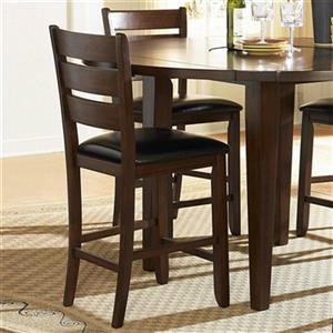Homelegance Ameillia 24-in Dark Oak Dining Chair (Set of 2)