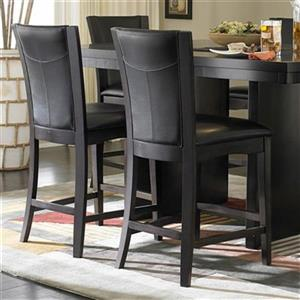 Homelegance Daisy 24-in Espresso Dining Chair (Set of 2)