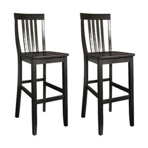 Crosley Furniture School House 30-in Black Bar Stool (Set of 2)