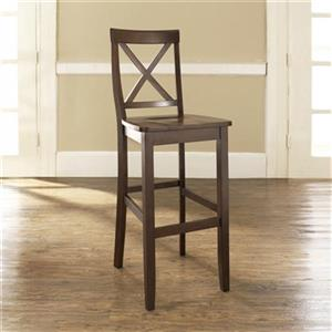 Crosley Furniture 30-in Vintage Mahagany X-Back Bar Stool (Set of 2)