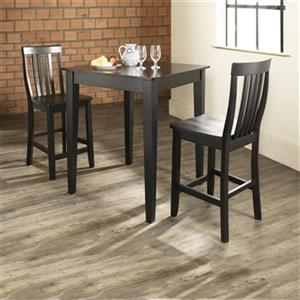 Crosley Furniture Black 3-Piece Pub Dining Set