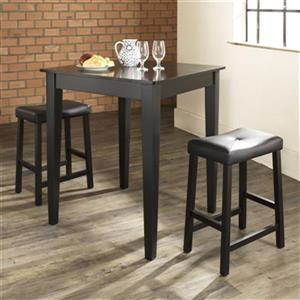 Crosley Furniture Black 3-Piece Pub Dining Set