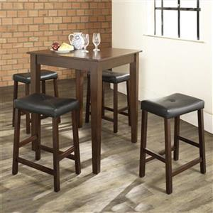 Crosley Furniture Vintage Mahogany 5-Piece Pub Dining Set