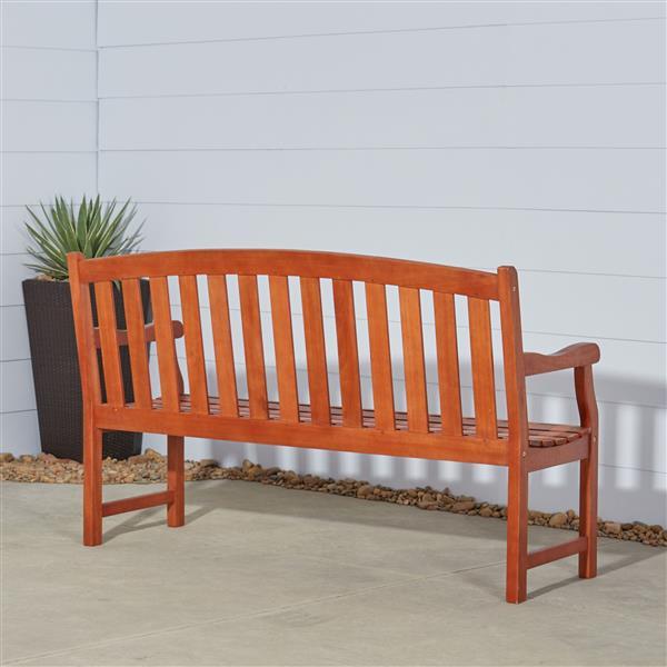 Vifah Malibu Wood 5-ft Outdoor Garden Bench
