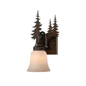 Cascadia Yosemite 1-Light Bronze Rustic Tree Bathroom Wall Fixture