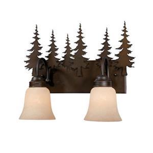 Cascadia Yosemite 2-Light Bronze Rustic Tree Bathroom Vanity Fixture