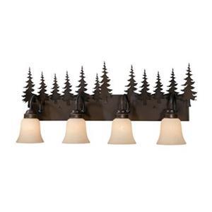 Cascadia Yosemite 4-Light Bronze Rustic Tree Bathroom Vanity Fixture