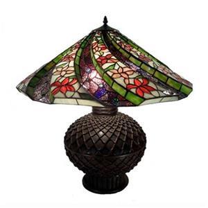 Warehouse of Tiffany 3-Light Tiffany Style Table Lamp