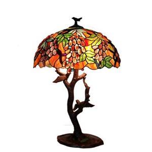 Warehouse of Tiffany 2-Light Tiffany Style Table Lamp