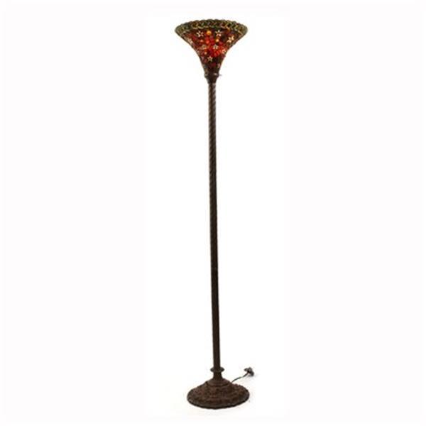 Warehouse of Tiffany 2 Light Tiffany Style Floor Lamp