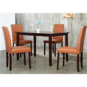 Warehouse of Tiffany Brown/Tan 5-Piece Dining Set
