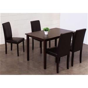 Warehouse of Tiffany Brown 5-Piece Dining Set