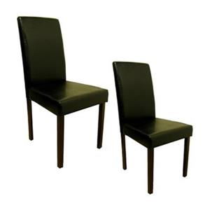 Warehouse of Tiffany 38-in x 18-in Black Dining Chair (Set of 2)