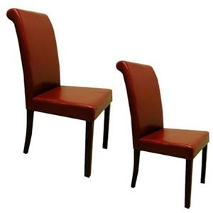 Warehouse of Tiffany 39-in x 18-in Red Dining Chair (Set of 2)