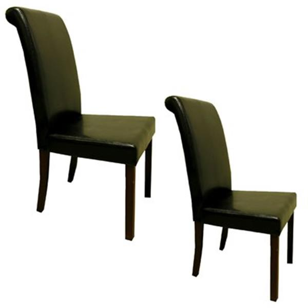 Warehouse of Tiffany 39-in x 18-in Black Dining Chair (Set of 4)